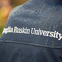Anglia Ruskin University printed on a jacket