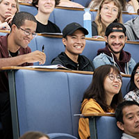 International students in lecture theatre